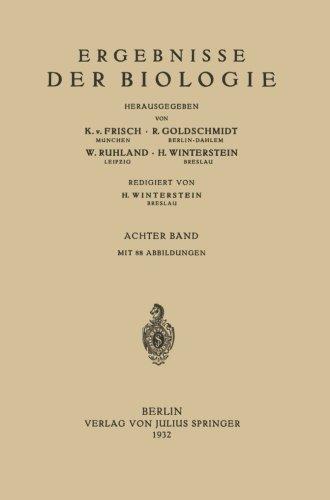 Ergebnisse der Biologie: 8. Band (Volume 8) (German Edition)