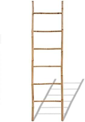 vidaXL Toallero Escalera 6 Peldaños Bambú Organizador Toalla Baño Aseo Diseño: Amazon.es: Hogar
