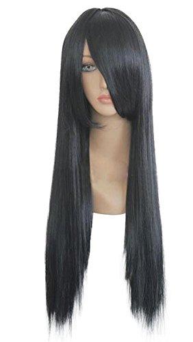 Neji Cosplay Costume (Mtxc Naruto Cosplay Neji Hyuga 60cm Long Straight Wig Black)
