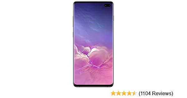 Samsung Galaxy S10+ Factory Unlocked Android Cell Phone | US Version | 128GB of Storage | Fingerprint ID and Facial Recognition | Long-Lasting Battery | U.S. Warranty | Prism Black