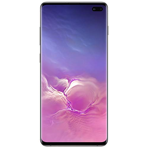 Samsung Galaxy S10+ Factory Unlocked Android Cell Phone | US Version | 1TB of Storage | Fingerprint ID and Facial Recognition | Long-Lasting Battery | Ceramic Black