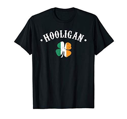 Hooligan St Patricks Day Irish Shamrock Flag T-Shirt T-Shirt