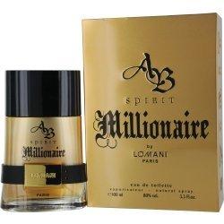 Lomani Ab Spirit Millionaire 3.4 OZ EDT Spray Mens New