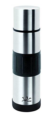Jata Hogar 500 ml Termo, Acero Inoxidable, Plateado y Negro, 7 50 x 7 50 x 26 cm