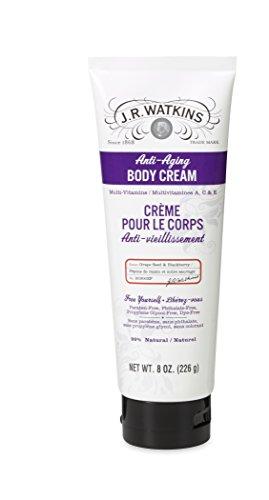 J R Watkins Natural Anti-Aging Body Cream, Grape Seed & B...