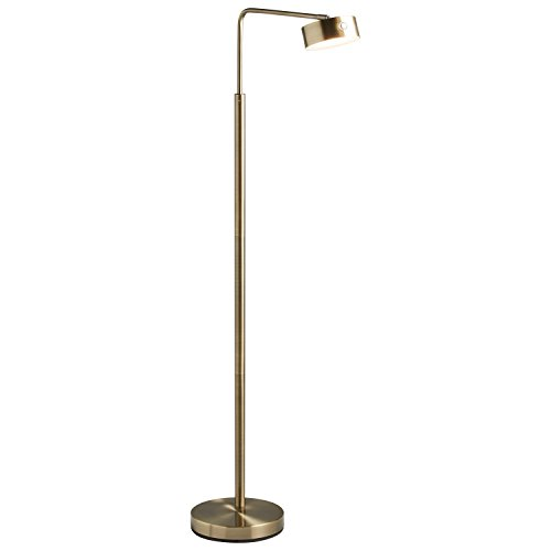 Torchiere Brass Antique Lamp (Stone & Beam Modern LED Task Floor Lamp, 49