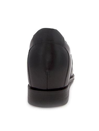 Ajoutez Votre Taille Zerimar Réhaussantes Hommes Fait qualité Chaussures Sport en de cm 6 pour Cuir 5 de Haute Noir à xPPCqYw1