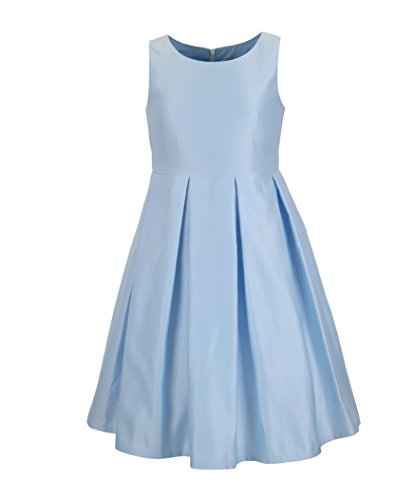 Emma Riley Girls' Satin Three-Tier Party Dress 14 Sky Blue for $<!--$29.99-->
