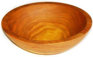 Set of 8 Solid Cherry Wooden Side Serving Bowls