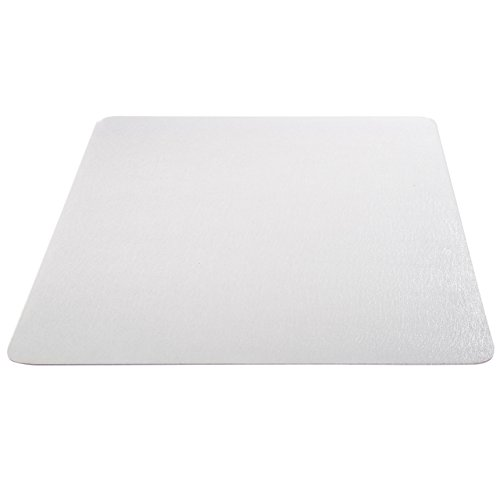 Deflecto EconoMat Clear Chair Mat, Hard Floor Use, Rectangle, Straight Edge, 46