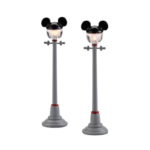 Department 56 Disney Village Mickey Street Lights General Accessory, 4.375 - Village Collectible Accessory