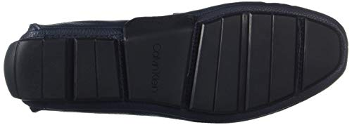 Klein Style Kaleb Driving Men's Tumbled Calvin Dark Leather Loafer Navy HBwqpOO