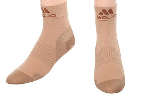 Plantar Fasciitis Compression Foot Socks - Foot Sleeves - XFirm Graduated Support - 1 Pair Unisex Heel Arch Support/Ankle Sock Medium, Beige Closed Toe)