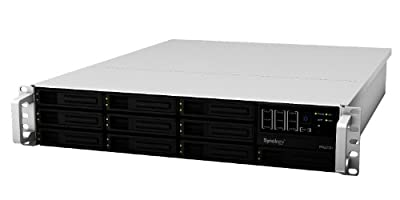 Synology RackStation 10-Bay (Diskless) 2U NAS Rackmount Network Attached Storage RS2212+ (Sliver/Black) by Synology America