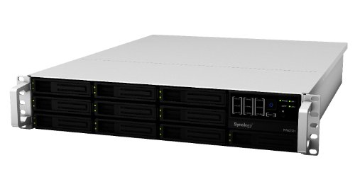 Synology RackStation 10-Bay (Diskless) 2U NAS Rackmount Network Attached Storage RS2212+ (Sliver/Black)