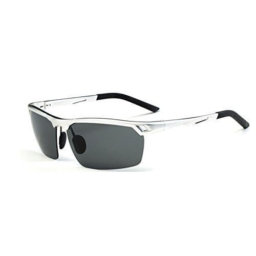 Polarized Sunglasses For Adult Men, Fashion Designer Cool Silver Safety Goggles For Motorcycle Sports Baseball Reading Fishing Driving Racing Riding Golf Eyewears With Sunglass - Glasses Designer Cool