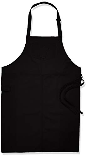 - Chef Works Unisex Rockford Chefs Bib Apron, Steel Gray, 0