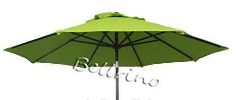 BELLRINO DECOR Replacement SAGE GREEN '' STRONG & THICK '' Umbrella Canopy for 9ft 6 Ribs SAGE GREEN (Canopy Only) by BELLRINO DECOR