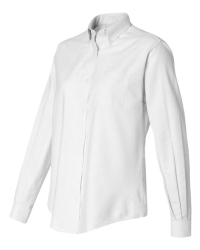 58800 Van Heusen Ladies' Classic Long-Sleeve Oxford (White) (XL)