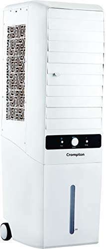 Crompton Mystique Turbo 34-Litre Tower Cooler (White)