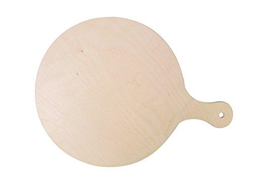Aperitivi DEMOLLI FSC-10454 Tagliere con Manico per Pizza Naturale Legno Faggio Polenta