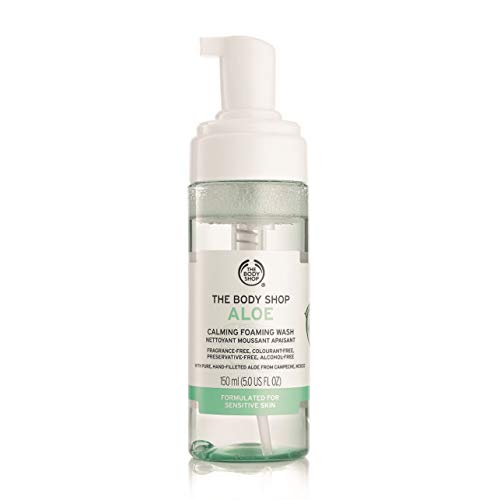 The Body Shop Aloe Vera Calming Foaming Wash, Paraben-Free Face Wash, 5.0 Fl. Oz.