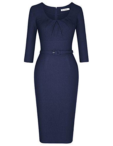 50s style boat neck dress - 3