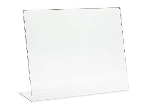 Dazzling Displays 6-pack Acrylic 11 x 8.5 Slanted Sign Holders by Dazzling Displays