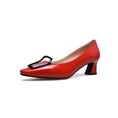Cuadrados Tac de Zapatos Negros Mujeres Zapatos para gxdYqgf
