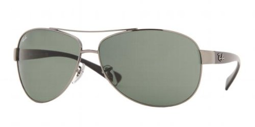 acf0581be304c5 Ray-Ban Aviator Wrap Lunettes De Soleil En Vert Bronze Crystal Rb3386 004 71