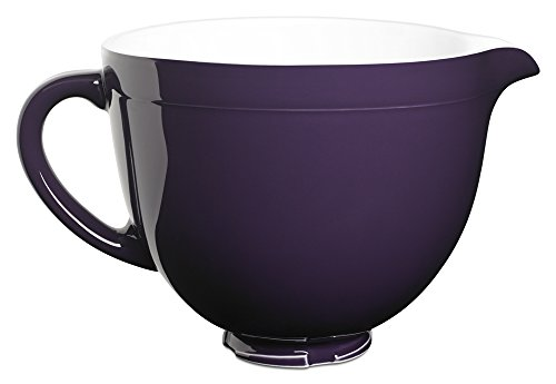 KitchenAid KSMCB5RP 5-Qt. Tilt-Head Ceramic Bowl - Regal Purple (Stand Mixer Purple)
