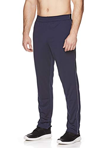 HEAD Men's Running Pants - Performance Jogging Workout & Training Sweatpants w/Zippered Pockets - Lead Navy, Small