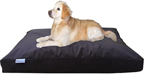 Dogbed4less Jumbo Orthopedic Extreme Comfort Memory Foam Dog Bed Pillow, Waterproof Lining and Durable Machine Washable Cover for Large to Extra Large Dogs