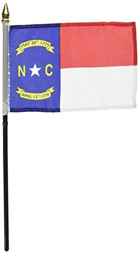 Us Flag Store North Carolina Flag, 4 by 6-Inch