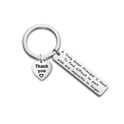 TGBJE School Principal Gift A Truly Great Principal is Hard to Find Difficult to Part with and Impossible to Forget Keychain Retirement Gift Thank You Gift (Principal Gift)