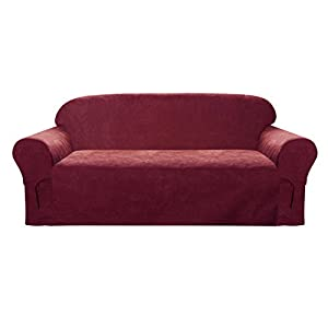 Comfy Bedding Microsuede Sofa Furniture Slipcover with Elastic Straps Under Seat Cushion