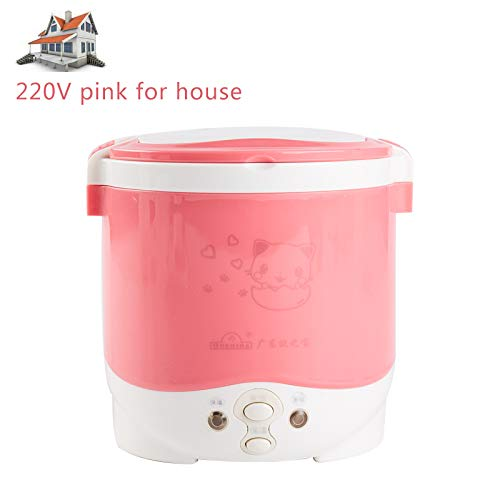 1L Rice Cooker Used In House 110V To 220V Or Car 12V To 24V Enough For Two Persons 220V pink for house