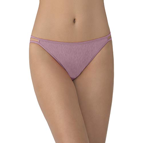 Vanity Fair Women's Illumination String Bikini Panty 18108, Retro Rose, X-Large/8 ()