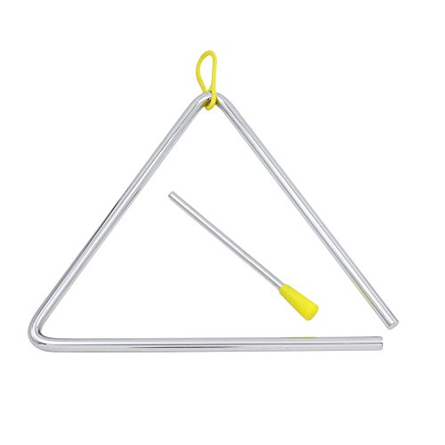 Dilwe Music Triangle, Children Music Enlightenment Musical Percussion Instrument Steel Triangle with Striker(8inches) ()