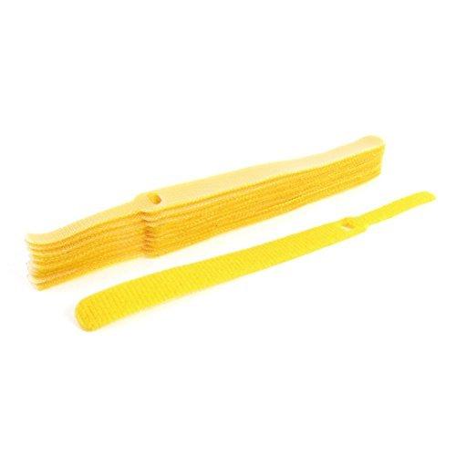 Amazon.com: eDealMax Gancho de plástico de Nylon bucle de Cable Fastener Lazos Lazos 10 piezas Amarillo: Electronics