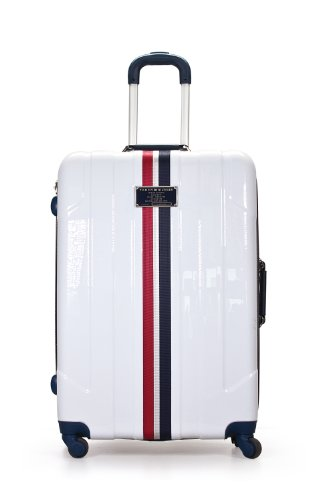 Tommy Hilfiger Lochwood 28 Inch Upright, White, One Size Tommy Hilfiger Luggage