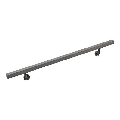Aluminum Handrail Direct AHR 8' Handrail Section with mounts - Silver