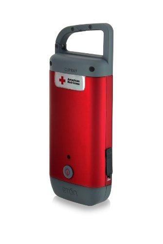 The American Red Cross Clipray crank-powered, clip-on flashlight and smartphone charger, ARCCR100R-SNG