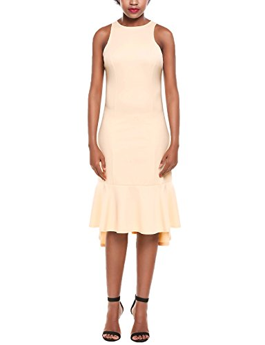 ANGVNS Womens Sleeveless Pleated Cocktail