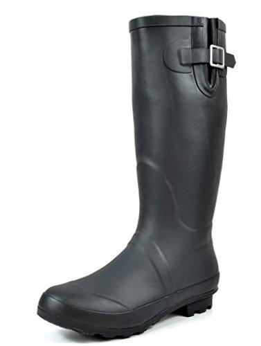 Black Rubber Rain Boots - 6