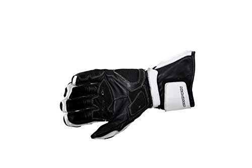 Scorpion Guardian Men's Leather On-Road Motorcycle Gloves - White / Large