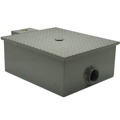 Zurn GT2701-50 Low Profile Grease Trap 50 Gallons Per Minute 100 Pounds Capacity