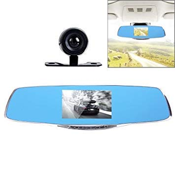 Uniqus G835 HD 1080P 4.3 inch Screen Display Rearview Mirror Vehicle DVR, Generalplus 2248, 2 Cameras 170 Degree Wide Angle Viewing, Support HDR Recording Motion Detection Function