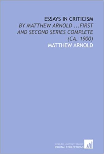 essays in criticism by matthew arnold first and second series  essays in criticism by matthew arnold first and second series complete ca 1900 matthew arnold 9781429762595 com books