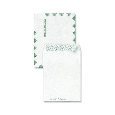 Tyvek Open-End Envelopes, 1st Class, 10 x 13 Inches, 100/Box, White